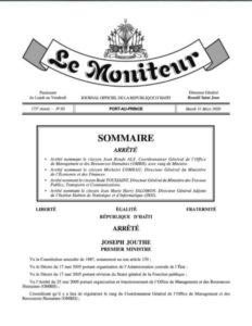 Nomination de plusieurs citoyens au sein de l'Administration publique