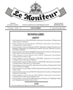 Une douzaine de personnalités nommées dans la diplomatie haïtienne