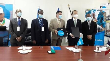 L'ambassade du Japon en Haïti et l'UNICEF s'attaquent à la mortalité et morbidité des enfants