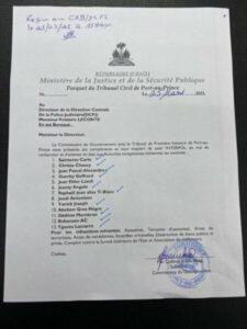 Près d'une quinzaine de policiers et d'anciens policiers recherchés par la justice haïtienne