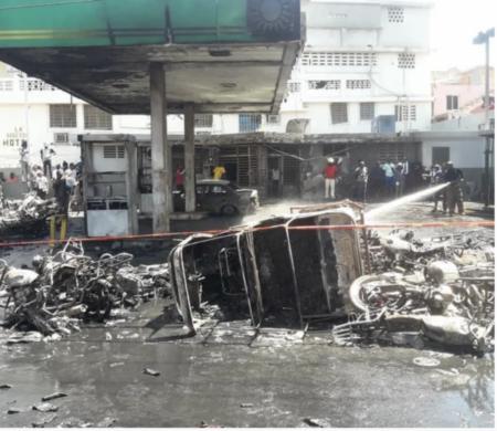 Cap-Haïtien (Nord) : plusieurs motocyclettes incendiées dans une station-service
